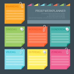 Gratis Proefwerkplanner download VMBO, HAVO, VWO, MBO